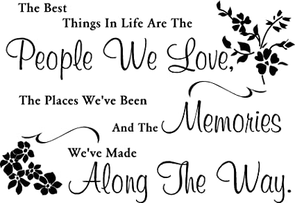 a973e3cb0ac5 Image Unavailable. Image not available for. Colour  LightningSigns People  We Love Memories Best Things Life Quote Vinyl Wall Art Room Sticker ...