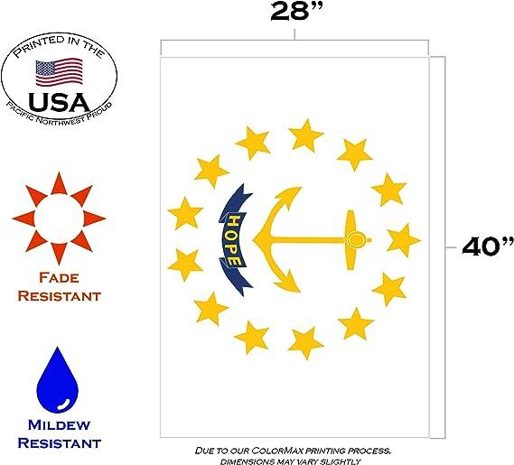 Toland Rhode Island State Flag 28 x 40 Patriotic USA Hope Anchor House Flag