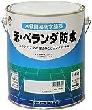 ロックペイント 水性床用ツヤ消し塗料 床・ベランダ防水(ツヤなし) 4Kg H82-0319-02 グレー