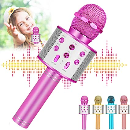 Amazon Com Newbrights Top Gifts For 4 5 6 Year Old Girls Handheld Karaoke Microphone For Kids Hot Girl Toys Age 7 8 Best Popular Birthday Presents For 9 10 11 12 Yr Old Girls Teens Musical Instruments