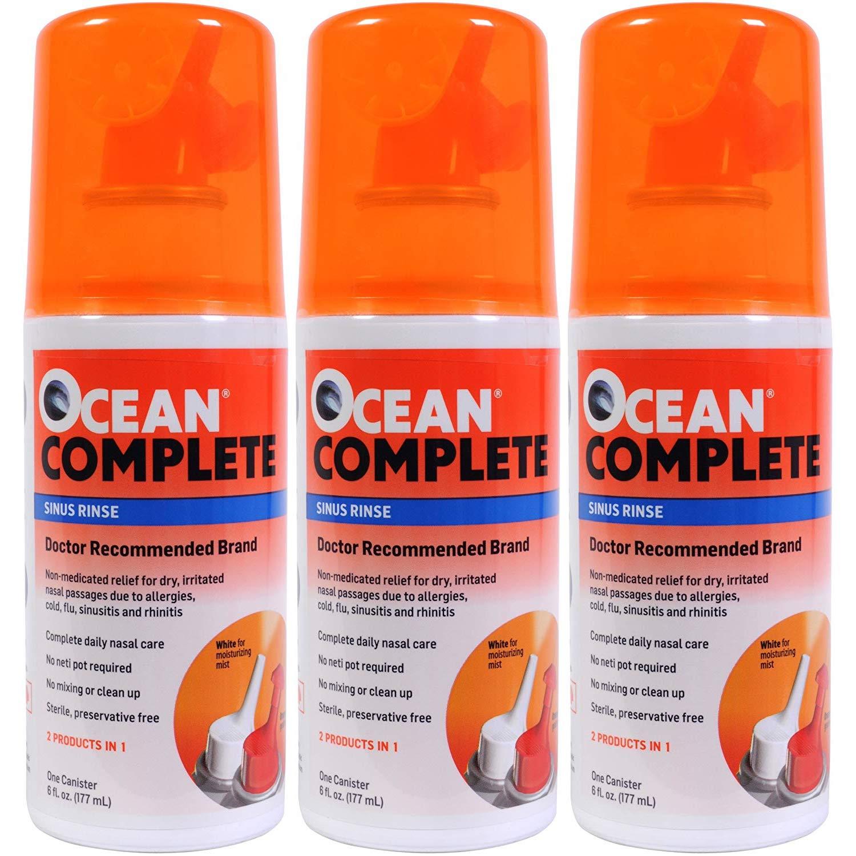 Ocean Complete Sinus Rinse, 6 Ounce (Pack of 3) by Ocean