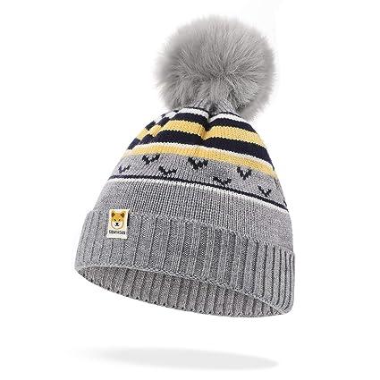 Hifot Sombrero de Gorro recién Nacido Bebé Otoño Invierno Cálido ...
