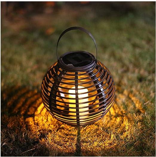 Farol solar para jaula de hierro – Lámpara colgante de mesa luz ...