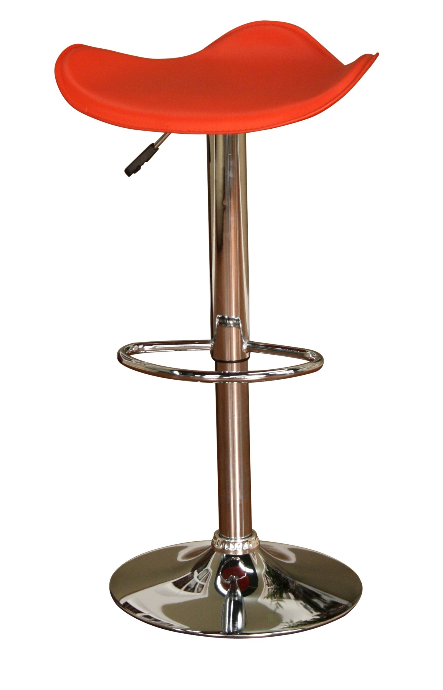 American Heritage Billiards Sloan Adjustable Height Stool with Red Seat