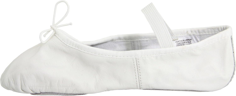 6.5 D US White Bloch Dance Womens Dansoft Full Sole Leather Ballet Slipper//Shoe