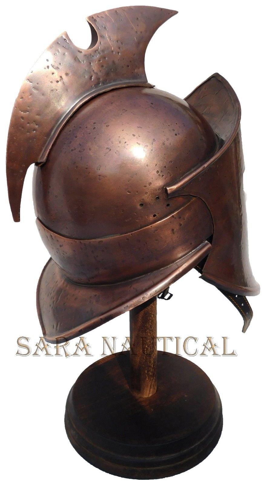All Metal 300 Spartan Helmet Metal Collectible Decorative Antique Item Halloween Helmet by Expressions Enterprises (Image #3)