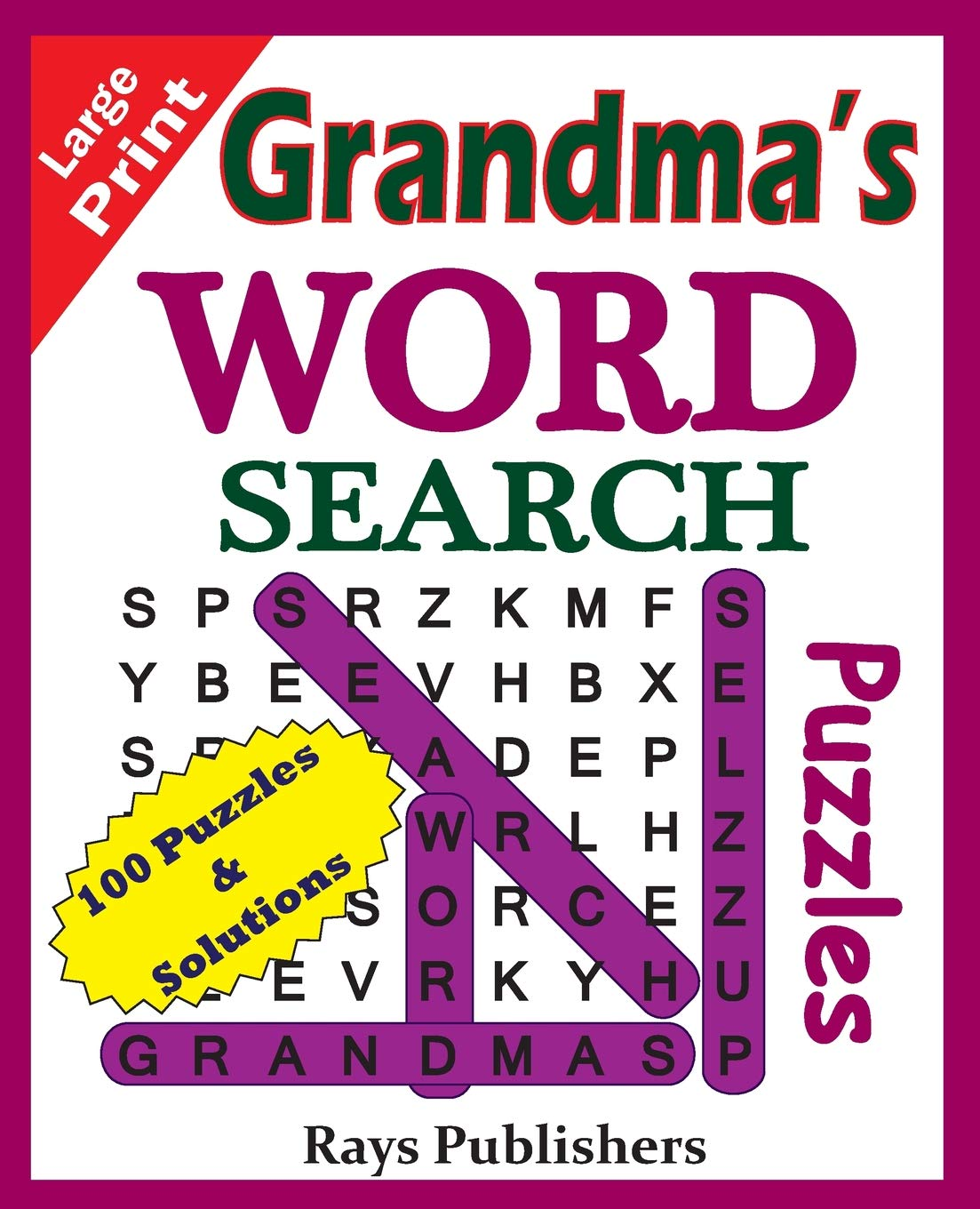 Remarkable Grandmas Word Search Puzzles Suitable For Hours Of Brain Download Free Architecture Designs Scobabritishbridgeorg
