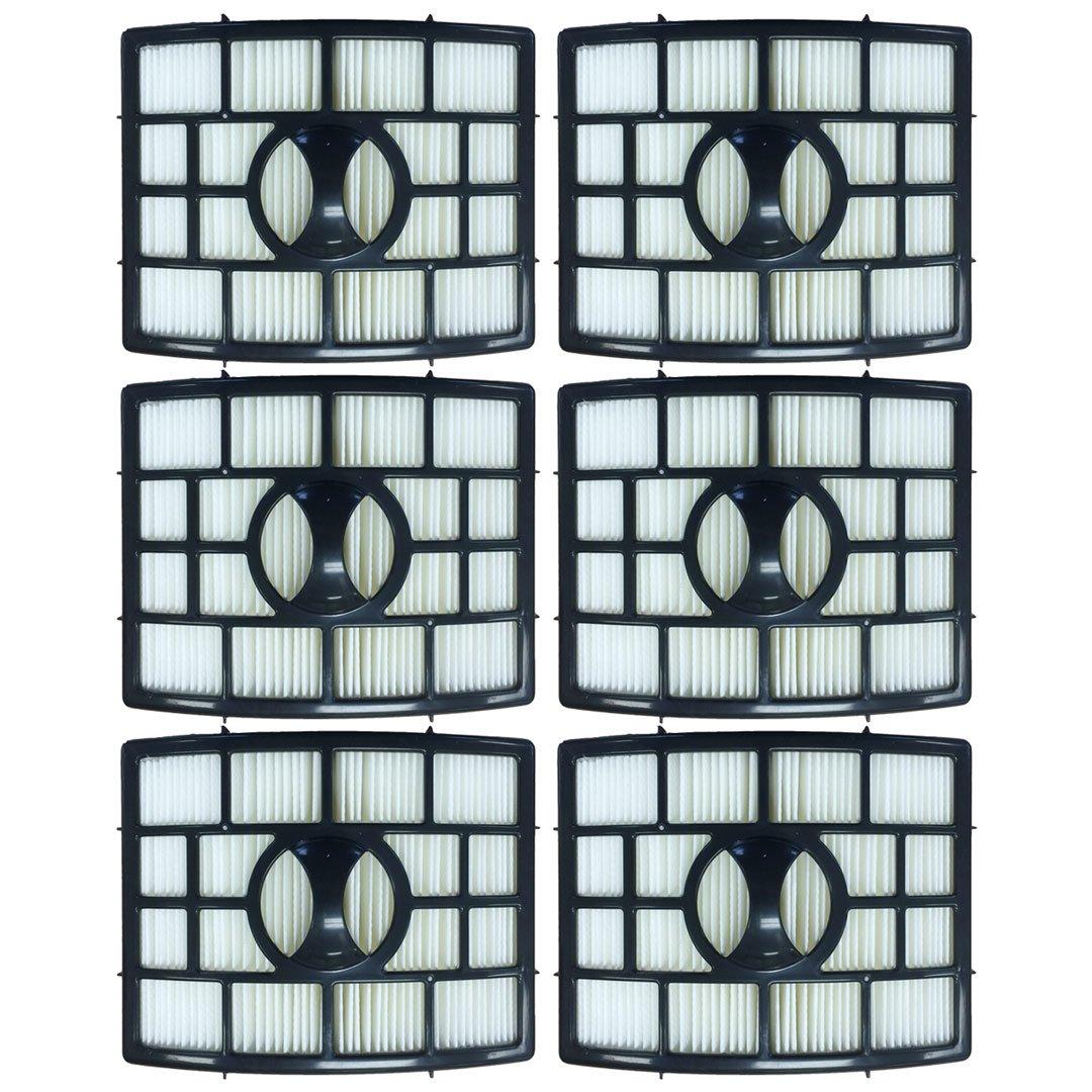 Felji 6 Pack HEPA Filter for Shark Rotator Pro Lift Away NV650, NV651, NV652, NV750, NV751, NV752, NV755 Part # XHF650