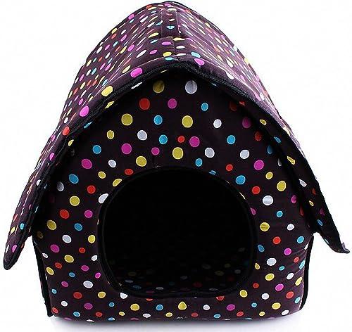 Rachel Pet Products Colorful Dots Soft Cloth Dog Pet House