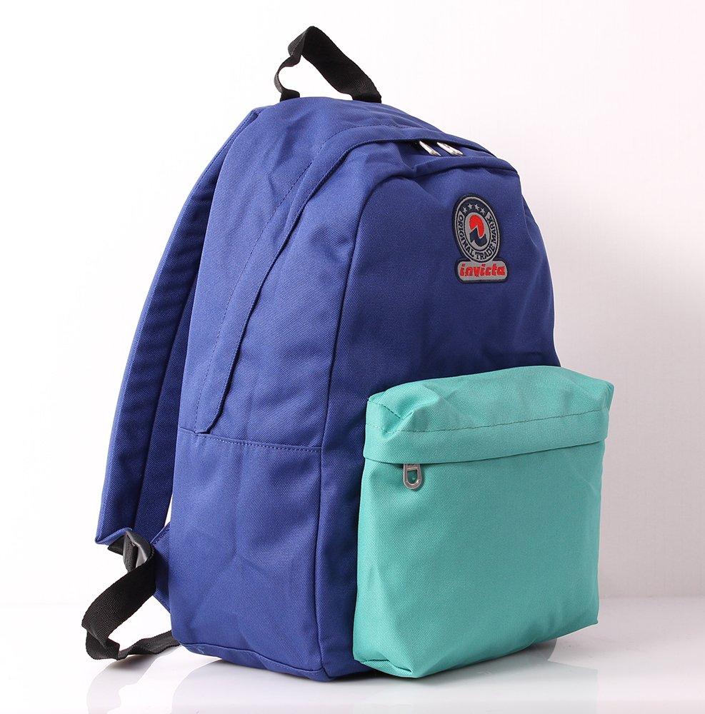 bb10d1f265 Zaino INVICTA - LOGO Bicolor- Roundast - 25 LT Blue Verde scuola tempo  libero: Amazon.it: Valigeria