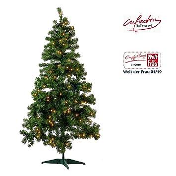 Künstlicher Weihnachtsbaum Auf Rechnung.Infactory Christbaum Künstlicher Weihnachtsbaum Grün 180 Cm 465 Pvc Spitzen Mit 300 Leds Kunstbaum
