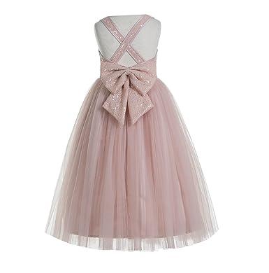 ekidsbridal Crossed Straps A-Line Flower Girl Dresses Junior Bridesmaid Dress Formal Dresses 177 4