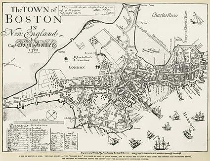 Amazon.com: Boston Map 1722 Nengraved Facsimile By George G ... on map boston area towns, jamaica plain boston, massachusetts boston, tourism boston, harvard square boston, things to do in boston, metro map boston, greater boston, fallout boston, towns surrounding boston, subway in boston, downtown boston, map massachusetts, weather boston, world map boston, back bay boston, map ny, lakes in boston, hyatt regency boston, north end boston,
