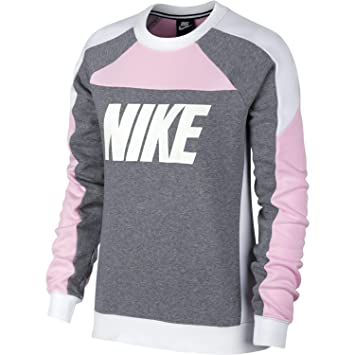 5c7e220396bb5 Nike W NSW Crew FLC CB - Sweat-Shirt - Femme: Amazon.fr: Sports et ...