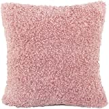 Super Soft Plush Faux Fur Cushion Covers Pillows Shell Home Bed Sofa Pink