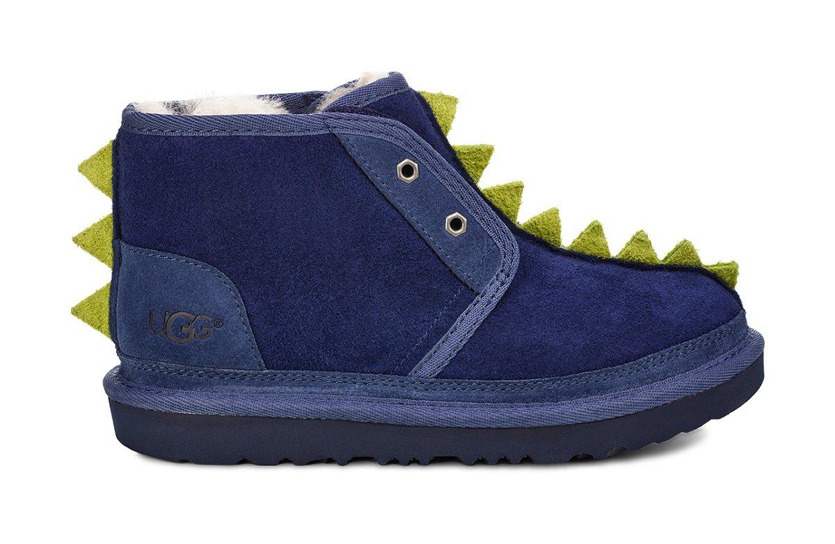 UGG Big Kids Dydo Neumel II Boot Navy/Bright Chartreuse Size 6 M US Big Kid