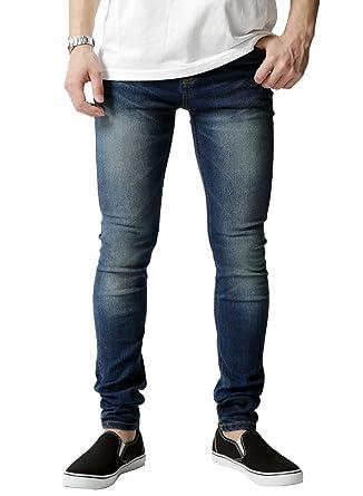 5ceb2ecf6cfbbe Amazon | [ロッキーモンロー] 男性用 スキニーデニム ストレッチ パンツ メンズ ジーパン スリム | ジーンズ 通販