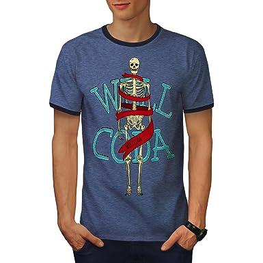 wellcoda Anatomie Skelett Schädel Männer S-2XL T-Shirt Zurück ...
