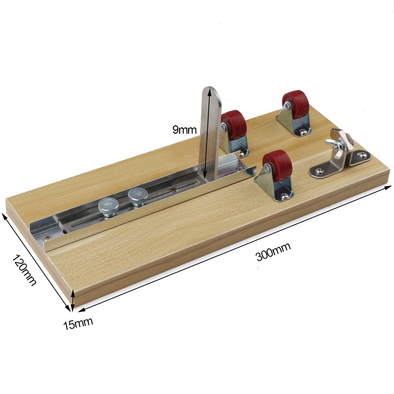 DROK® Botella de vidrio cortador de madera Junta de bricolaje Kit de herramientas, botellas de corte de la máquina Botella de vino herramienta de corte para ...