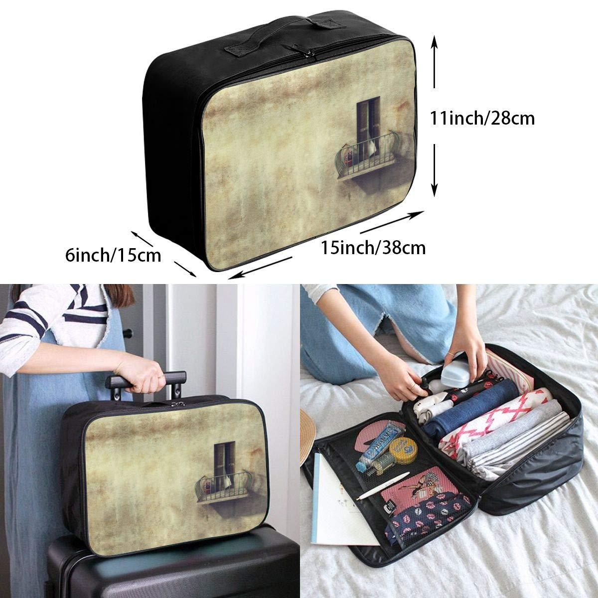 Travel Luggage Duffle Bag Lightweight Portable Handbag Retro Door Print Large Capacity Waterproof Foldable Storage Tote