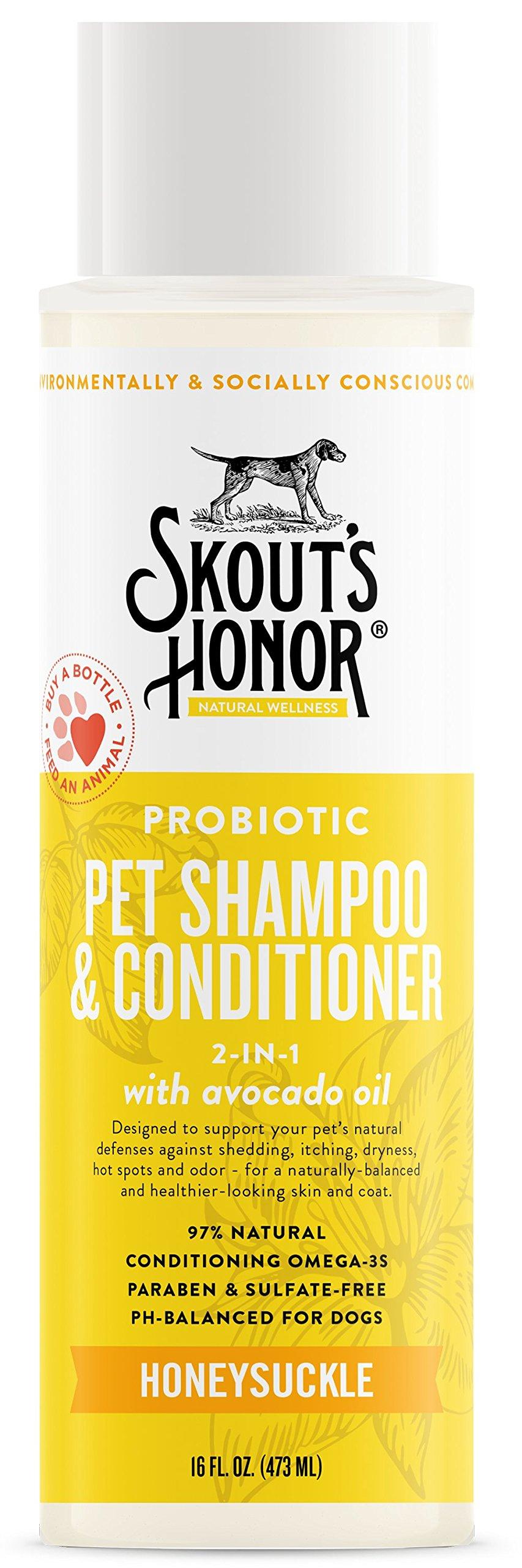 SKOUT'S HONOR Probiotic Pet Shampoo & Conditioner (2-in-1) - 16 fl. oz.