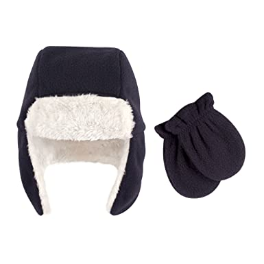 8a376495f4ea2d Amazon.com: Hudson Baby Baby Girls' Fleece Trapper Hat and Mitten Set:  Clothing