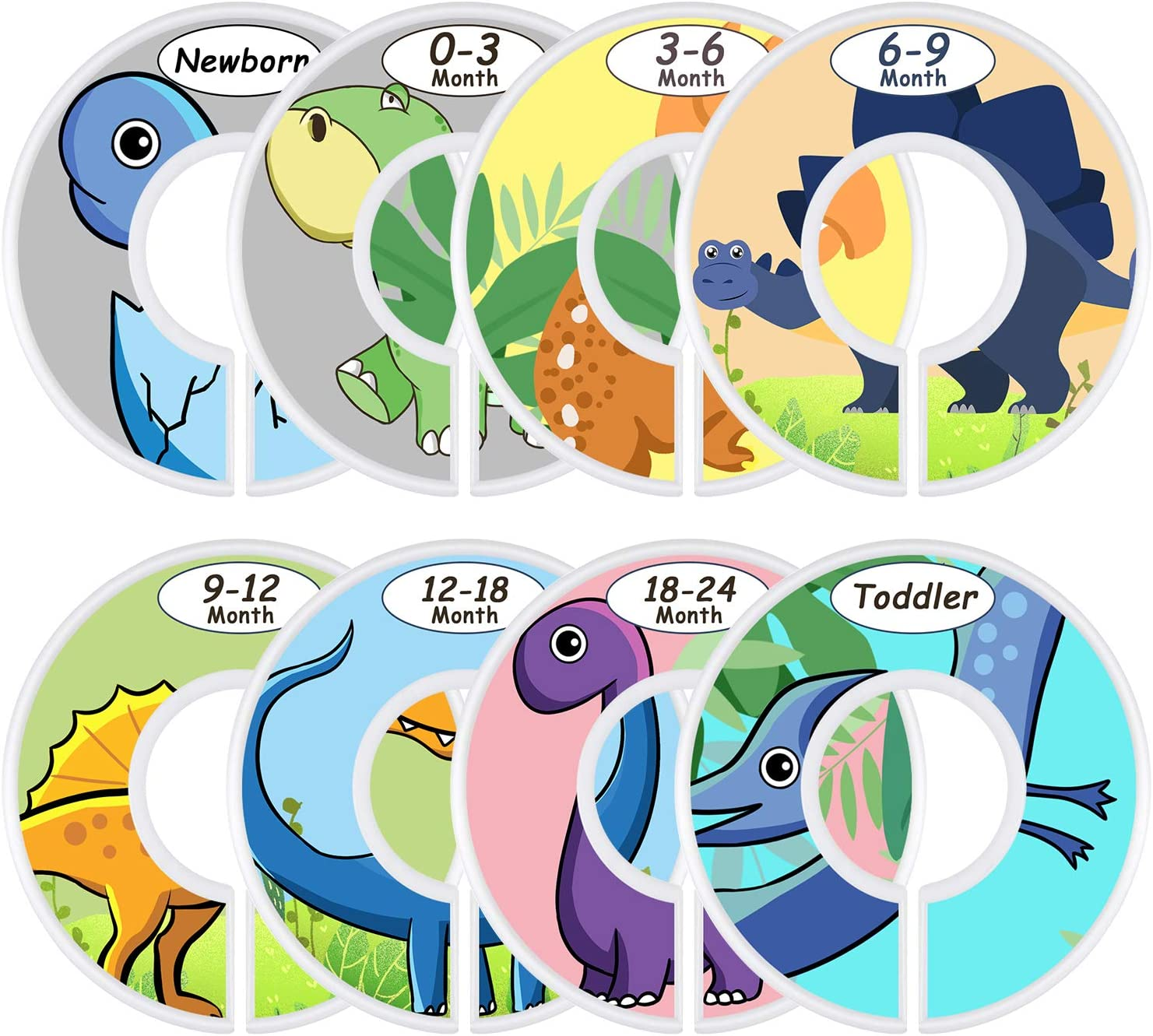 Baby Nursery Toddler Clothes Size Organizer Dividers Set of 8 Nursery Baby Closet Clothes Dividers Baby Closet Size Dividers Animals /…