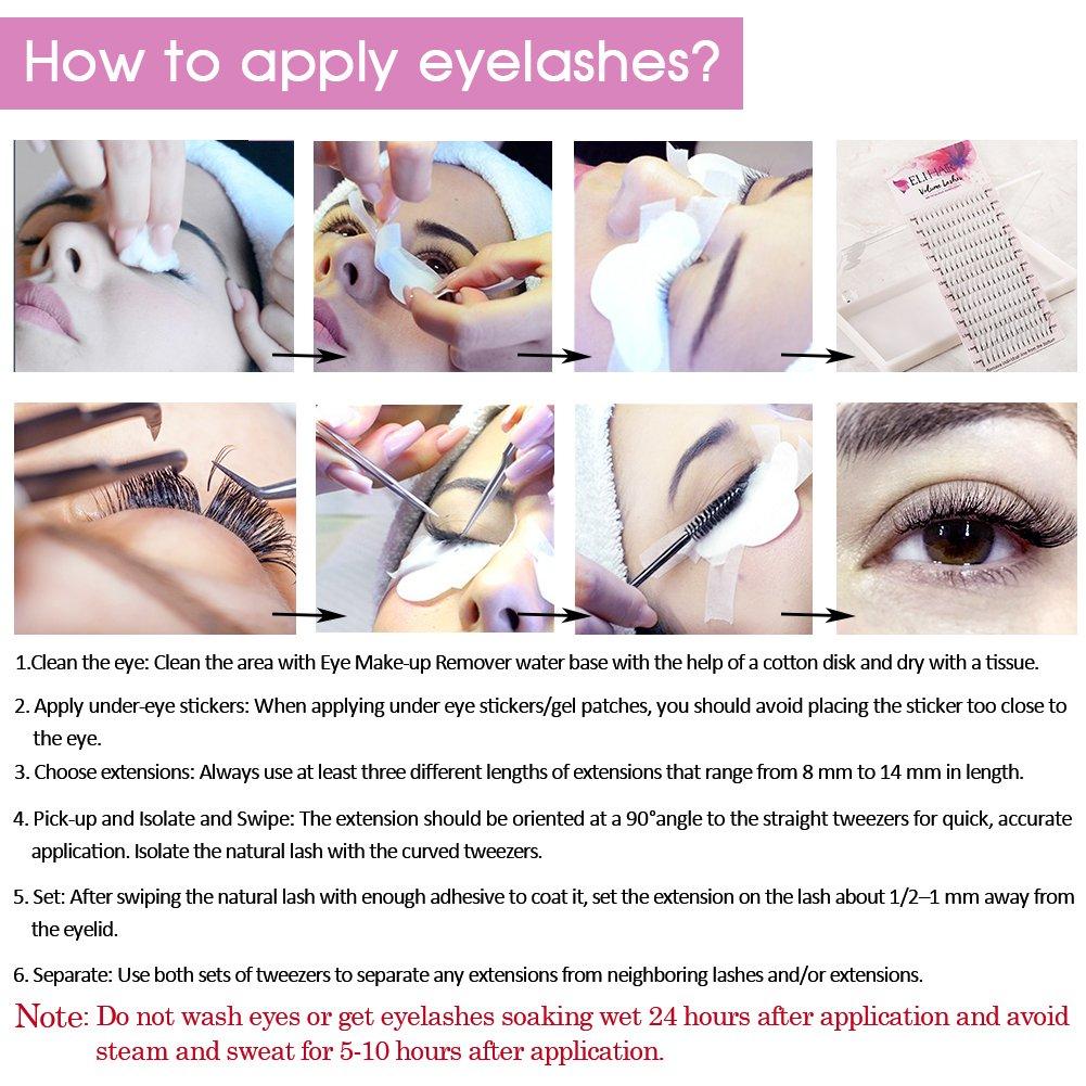 Amazon Elihair 3d W Premade Volume Eyelash Extensions Mix