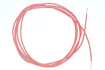 Silikonkabel 28 AWG Silikon Kabel Farbe Rot Ø Innen 0,4mm Ø Außen 1 ...
