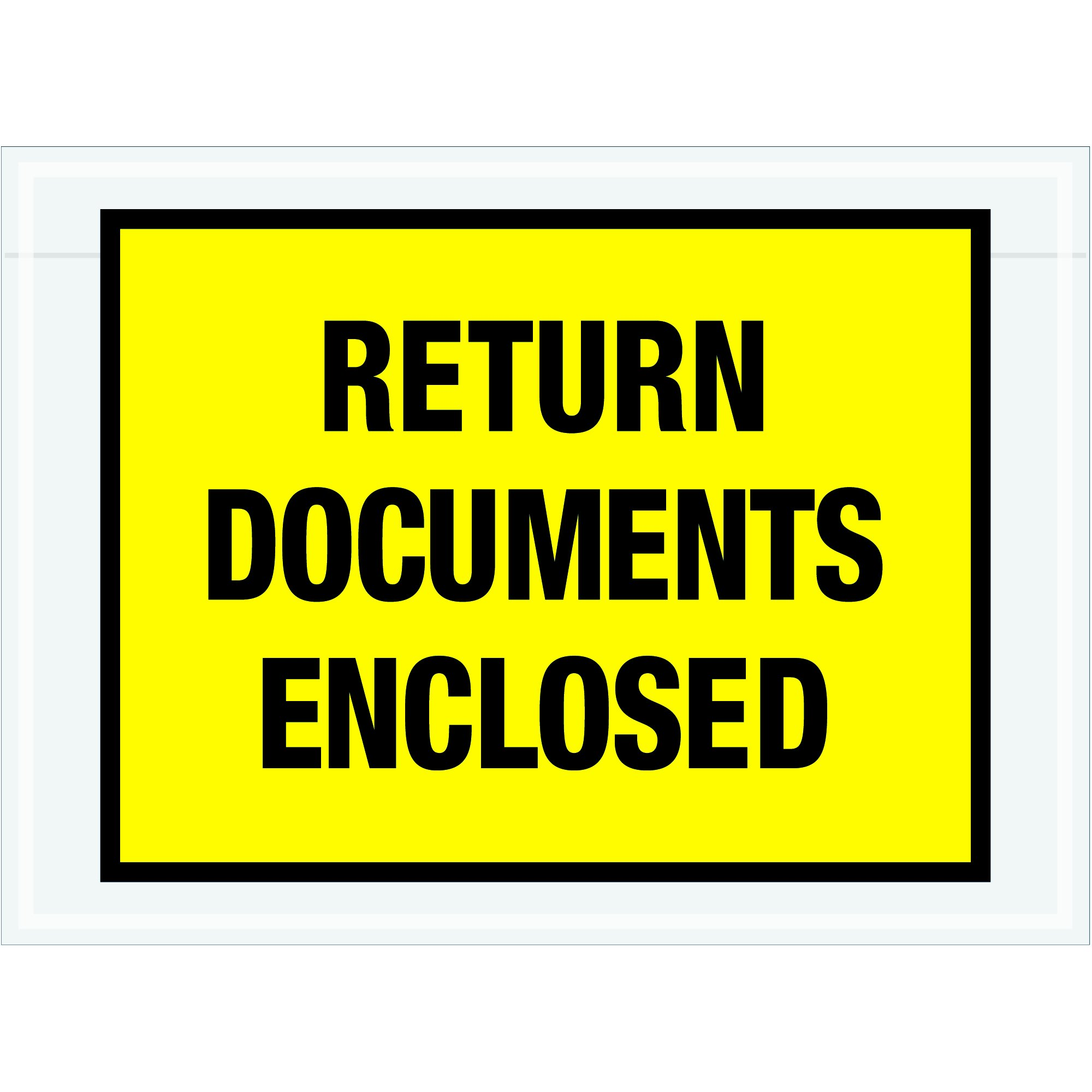 Tape Logic TLPL448''Return Documents Enclosed'' Envelopes, 7 1/2'' x 5 1/2'', Yellow (Pack of 1000) by Tape Logic