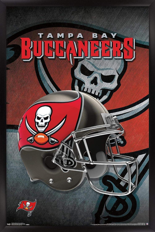 "Trends International NFL Tampa Bay Buccaneers - Helmet 16 Wall Poster, 22.375"" x 34"", Black Framed Version"