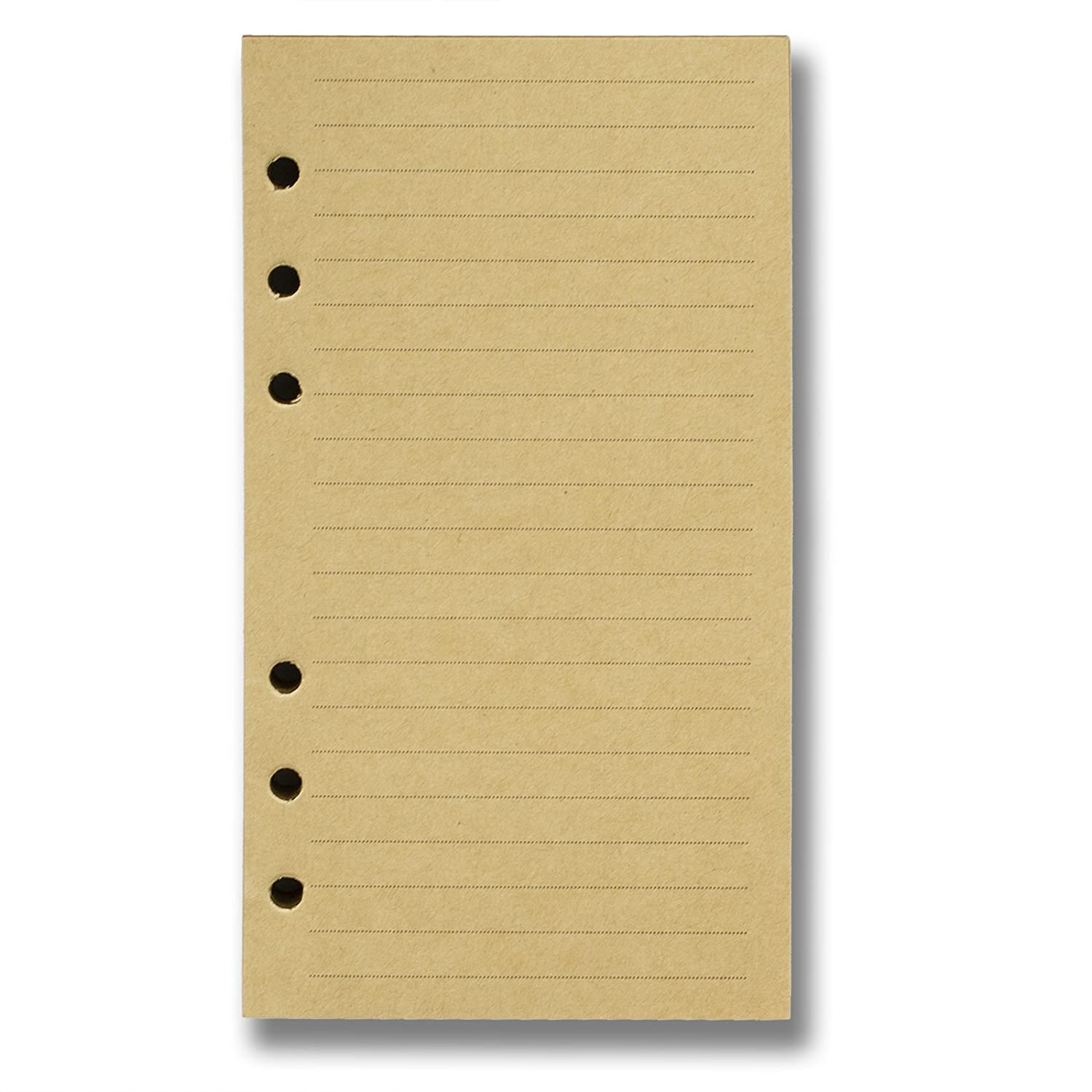 Refills 6 Hole Blank Craft Paper for A6 Loose Leaf Binder Notebook 3.75 X 6.75 Inches 100 sheets / 200 pages C&L Workshop