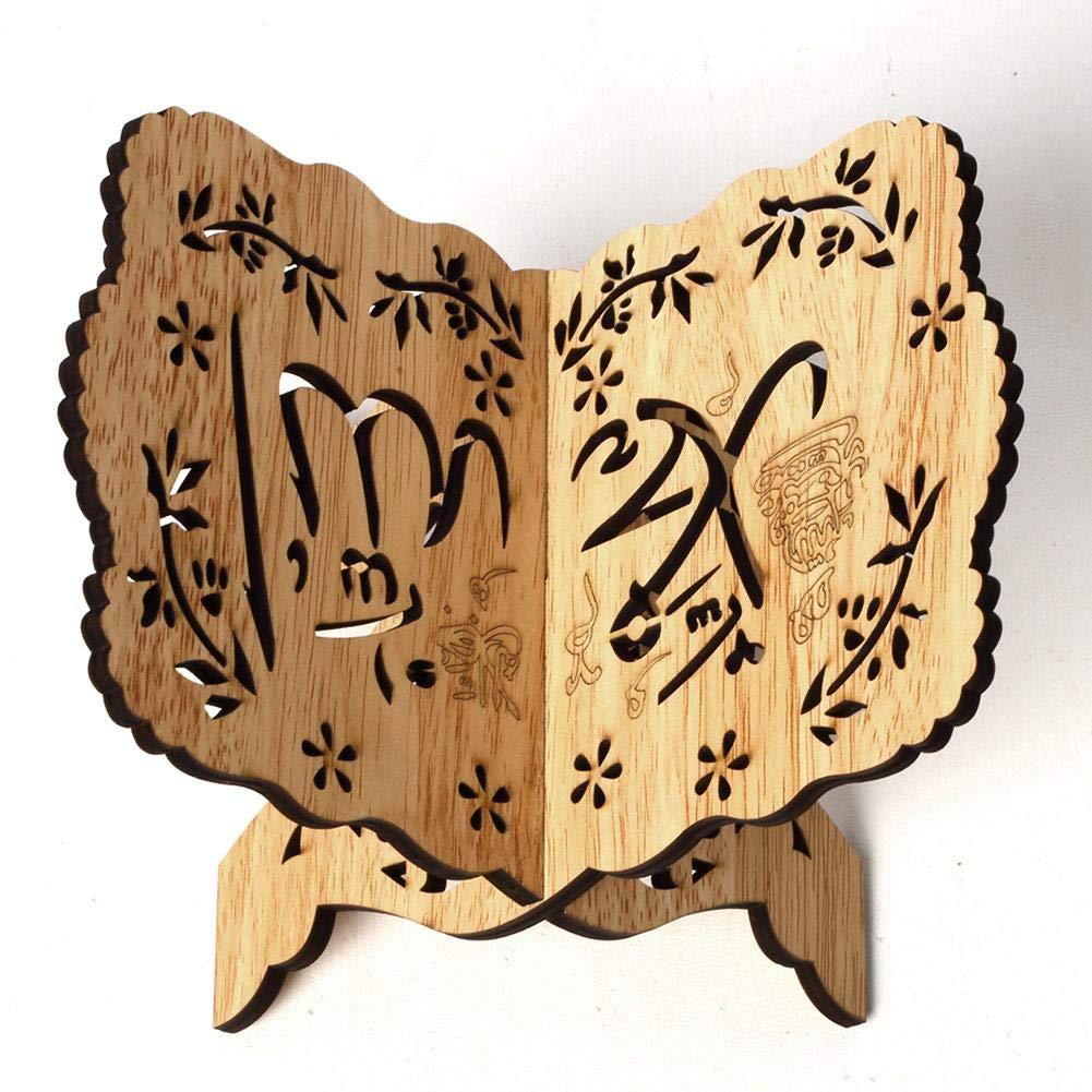 Cozy-TT Porte-Livre en Bois Bureau avec Porte-Documents avec r/étro /él/égant Motif Creux Islam Home Decoration