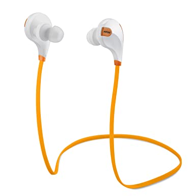 Mpow Swift Bluetooth 4.0 inalámbrico Sport auriculares con micrófono para smartphones, color naranja