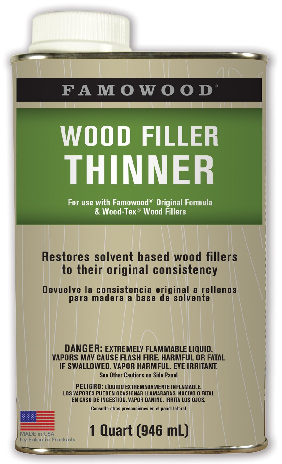 FamoWood 730011 Wood Filler Thinner - Quart by FamoWood (Image #1)