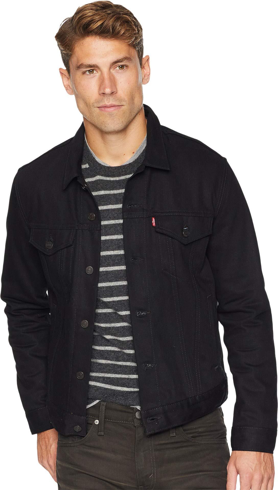 Levi's  Mens Men's The Trucker Jacket Polished Black Medium by Levi's? Mens