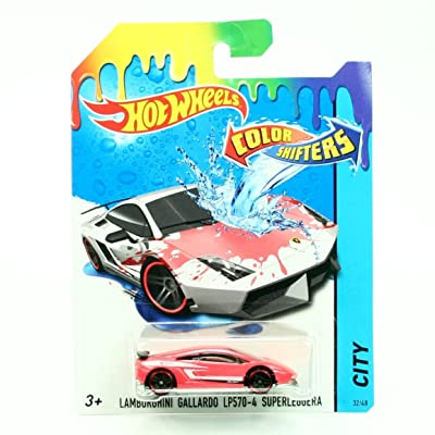 Hot Wheels Color Shifters Lamborghini Gallardo LP 570-4 (Red to White) Vehicle: Toys & Games