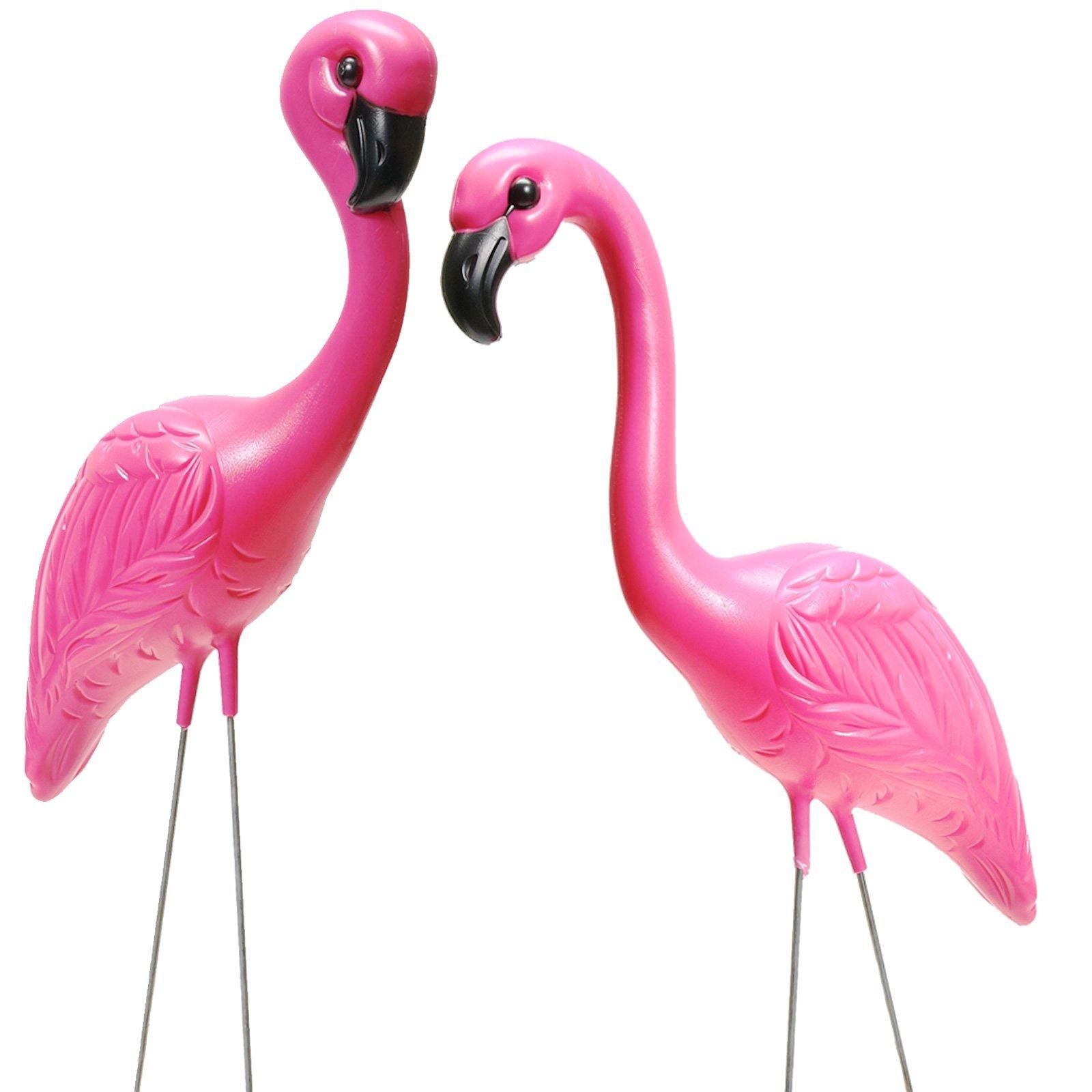 Fun Express - Pink Flamingo Novelty Yard Lawn Art Garden Ornaments (1-Pack of 2)