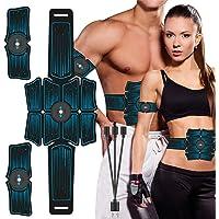 جهاز تدريب وتحفيز عضلات البطن الذكي والمحمول واللاسلكي من ايليد، معدات تدريب اللياقة البدنية للبطن والذراع والساق والخصر…