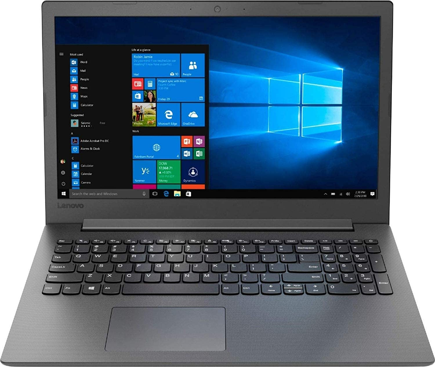 "2019 Newest Lenovo 130-15AST 15.6"" Laptop AMD A9-Series, 4GB DDR4 RAM, 128GB SSD, Wi-Fi, HDMI, Bluetooth, Windows 10, Black"