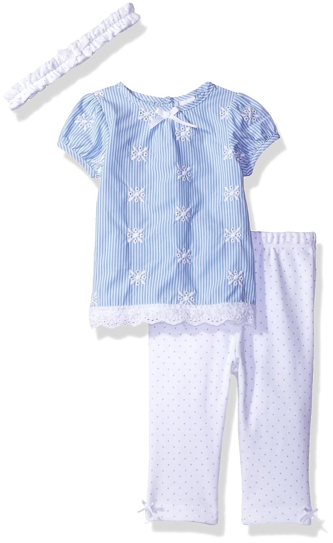 Amazon.com: little me para bebé niña 3 piezas de tela de ...