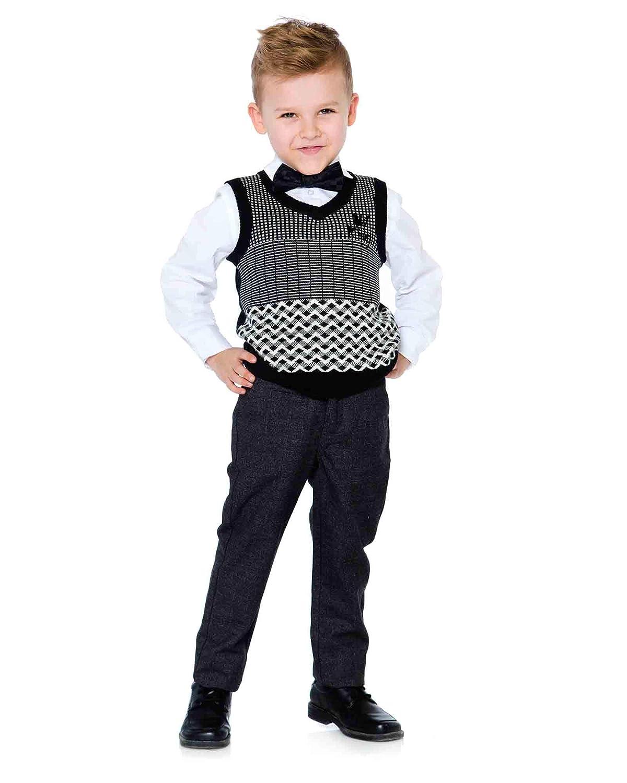 Deux par Deux Boys Knit Vest Night King Sizes 3-12