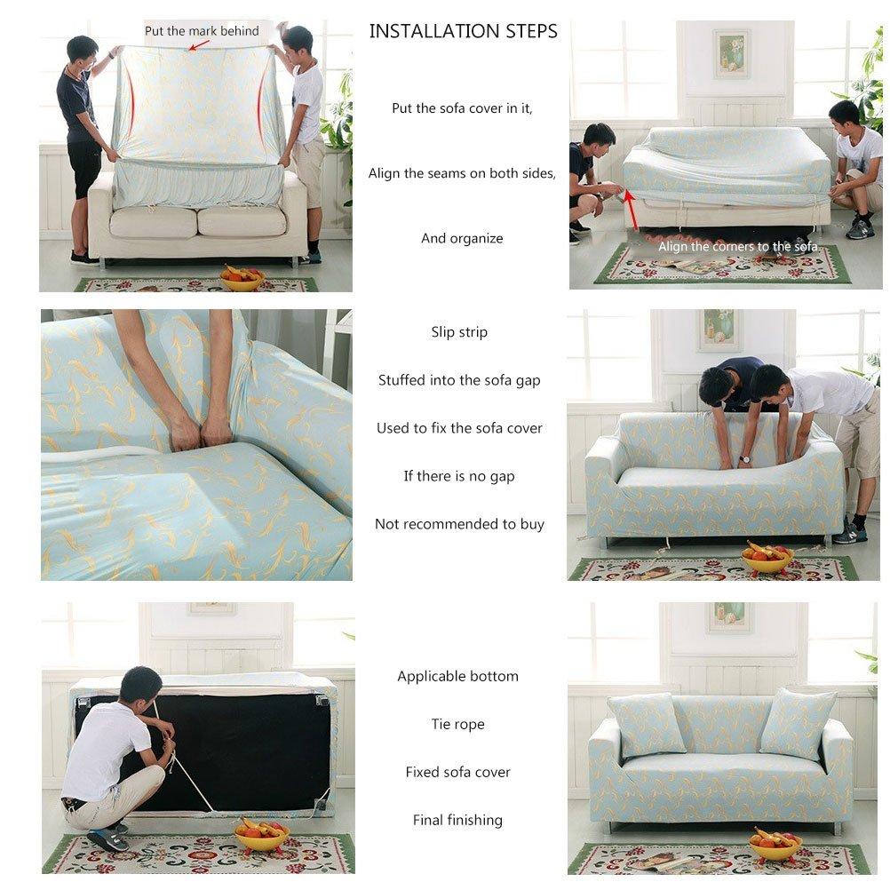 Bin Anti Slip Sofa Slipcovers Piece Polyester Pets One Piece Sofa
