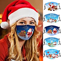 5 Pcs Adult Fashion Face_mask Popular Christmas Theme Pattern Reusable Anti-dust Washable Breathable Face_mask with…