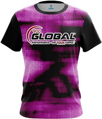 CoolWick 900 Global Mens Energy Swirls Purple Bowling Jersey