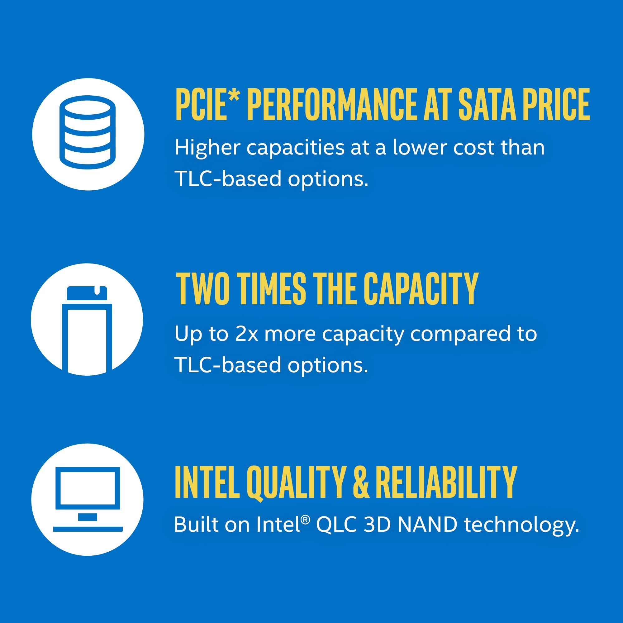 Intel SSD 660p Series (1.0TB M.2 80mm PCIe 3.0 x 4 3D2 QLC) 2 2281'' (SSDPEKNW010T8X1 ) by Intel (Image #5)