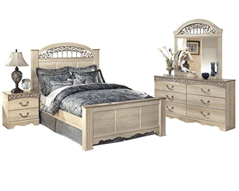 Amazon.com: Ashley Catalina 4 PC Queen Sleigh Bedroom Set in ...