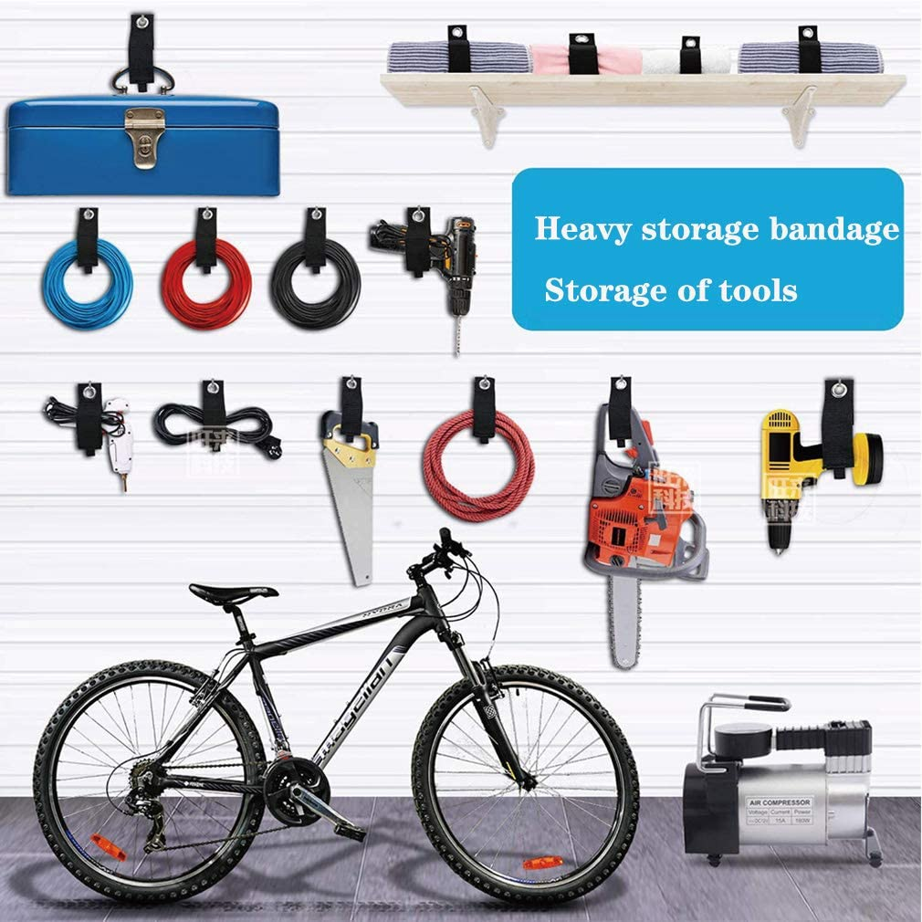 Rope RV Storage and Organization 6 Pcs Upgrade Cable Ties Reusable Extension Cord Organizer Hook and Loop Heavy Duty Straps for Cords Hoses