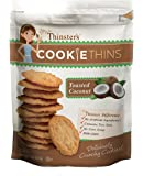 Mrs. Thinster's Cookie Thins, Toasted Coconut, Non-GMO, Peanut Free, 4 Ounce Bag, Pack of 12