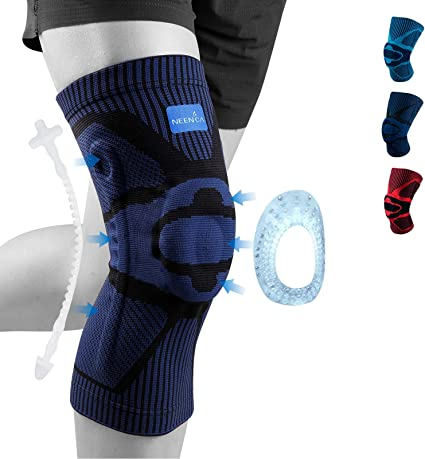 Pain Under Brace Women Meniscus Tear Knee Sleeve for Sleeping Compression Knee Sleeve for Runners- Best Knee Support for Arthritis Pain Non-Slip Plus Size Knee Brace for Men Injury ACL